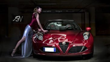 Alfa 4c light painting