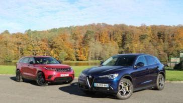 Alfa Romeo Stelvio contro Range Rover Velar