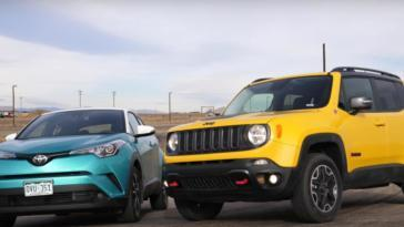 Jeep Renegade contro Toyota C-HR