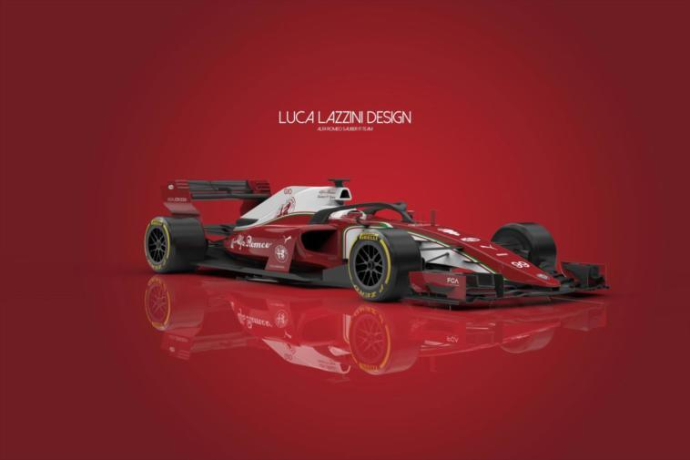 alfa romeo sauber f1 team un render anticipa la nuova monoposto. Black Bedroom Furniture Sets. Home Design Ideas