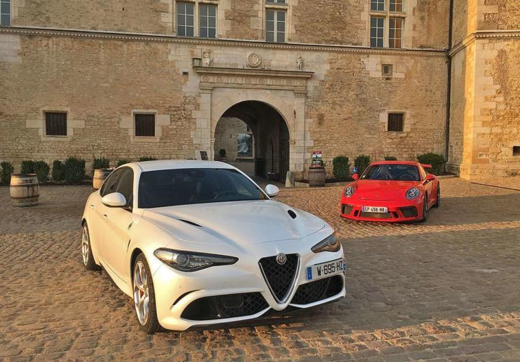 Alfa Romeo Giulia Quadrifoglio vs Porsche 911 GT3
