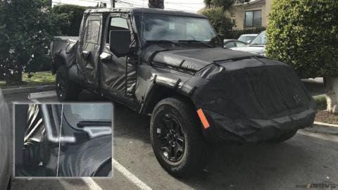 Jeep Scrambler foto spia