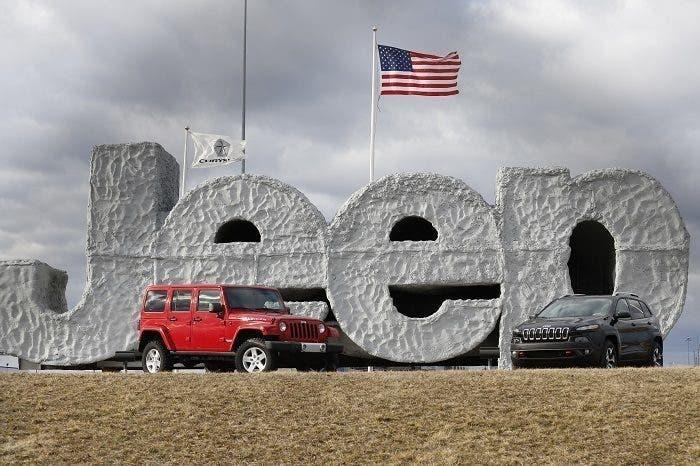Jeep lavoratori Toledo protesta