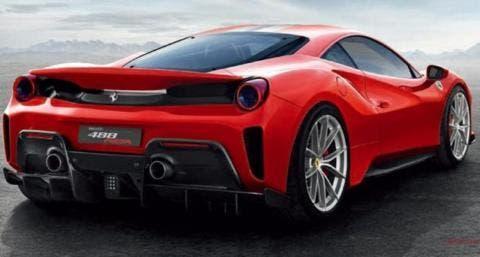 Ferrari 488 Pista render