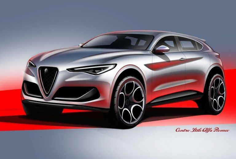 Sketch di Alfa Romeo Brennero 2019 nuovo suv ibrido