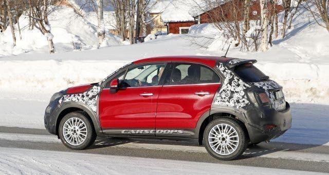 Fiat 500X foto spia