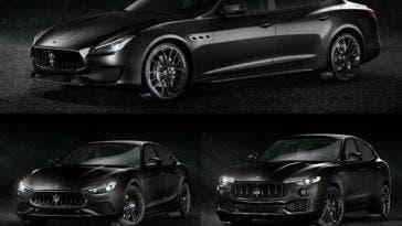 Maserati Ghibli, Quattroporte e Levante Nerissimo Edition