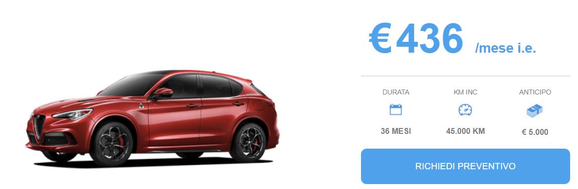 Alfa Stelvio offerta Noleggio Marzo 2018