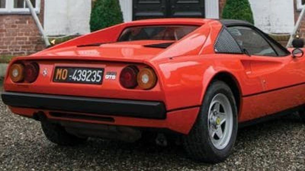 Ferrari 308 GTS Gilles Villeneuve asta