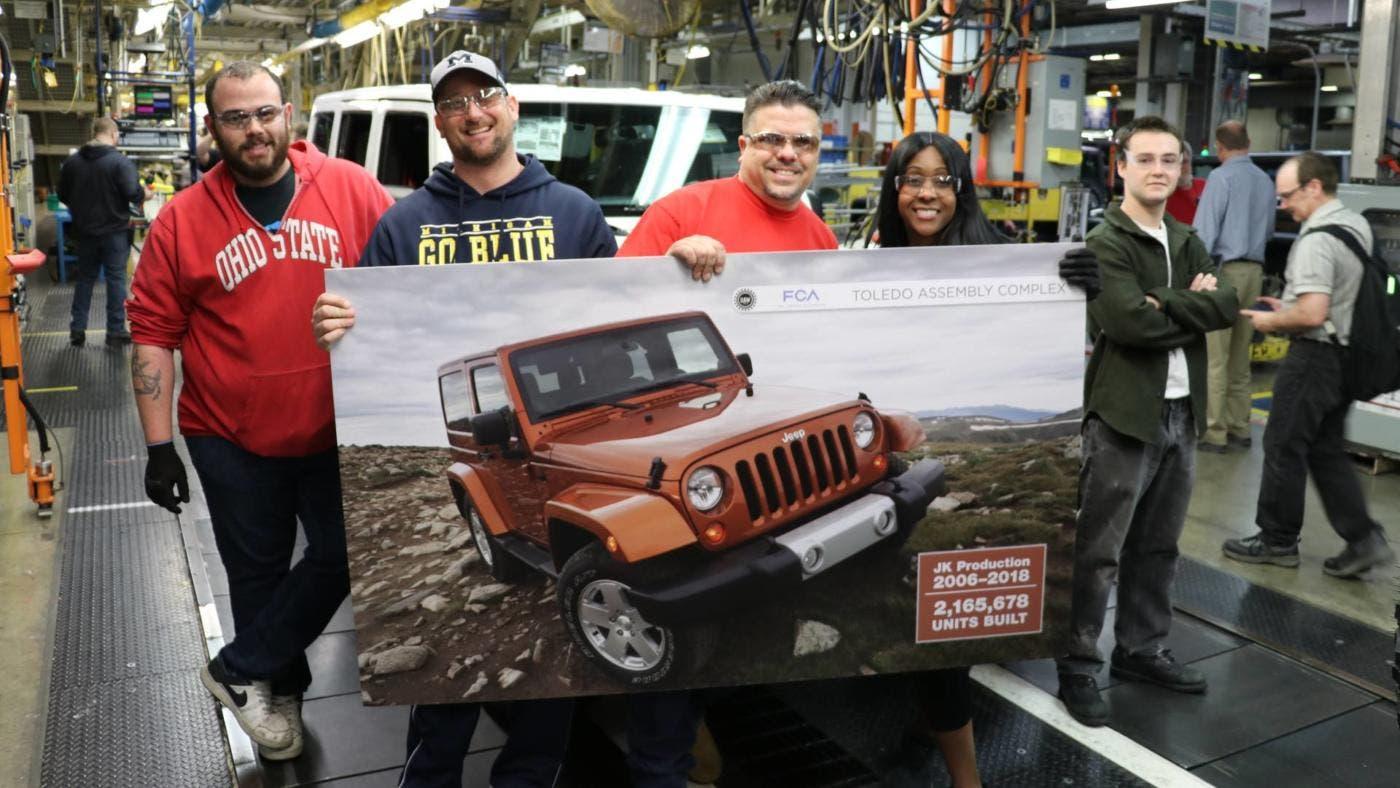 Jeep Wrangler JK fuori produzione