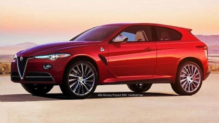 Alfa Romeo E-Suv test Cassino