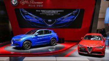 Alfa Romeo Jeep Maserati aumento esportazioni Cina