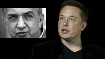 Sergio Marchionne FCA e Elon Musk Tesla Fusione