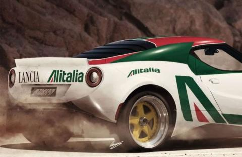 Lancia Stratos render Hansen Art