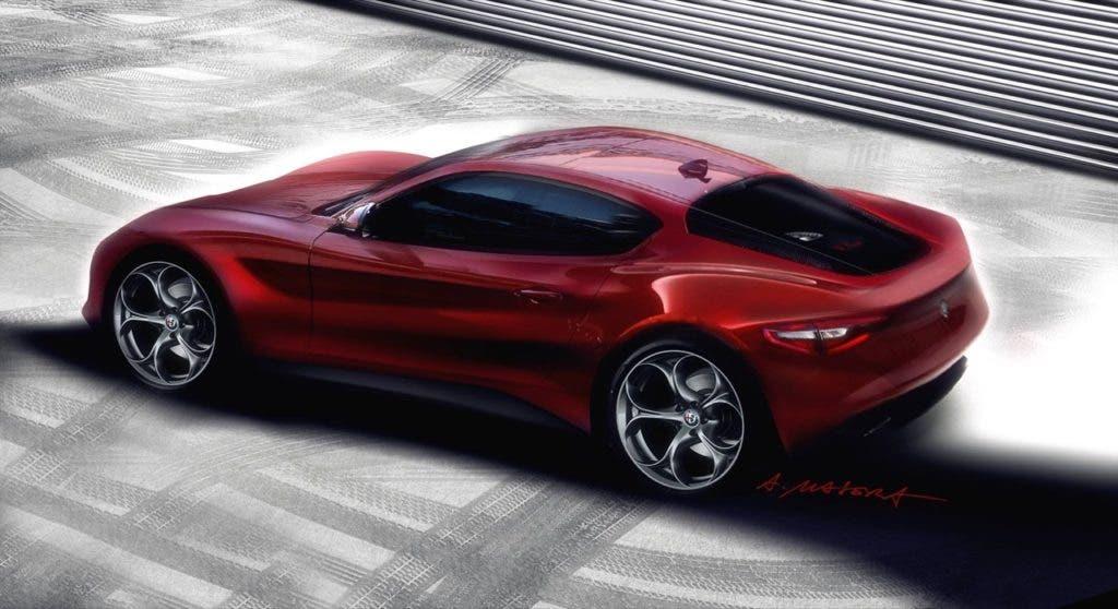 Nuova Alfa Romeo 4C render Masera