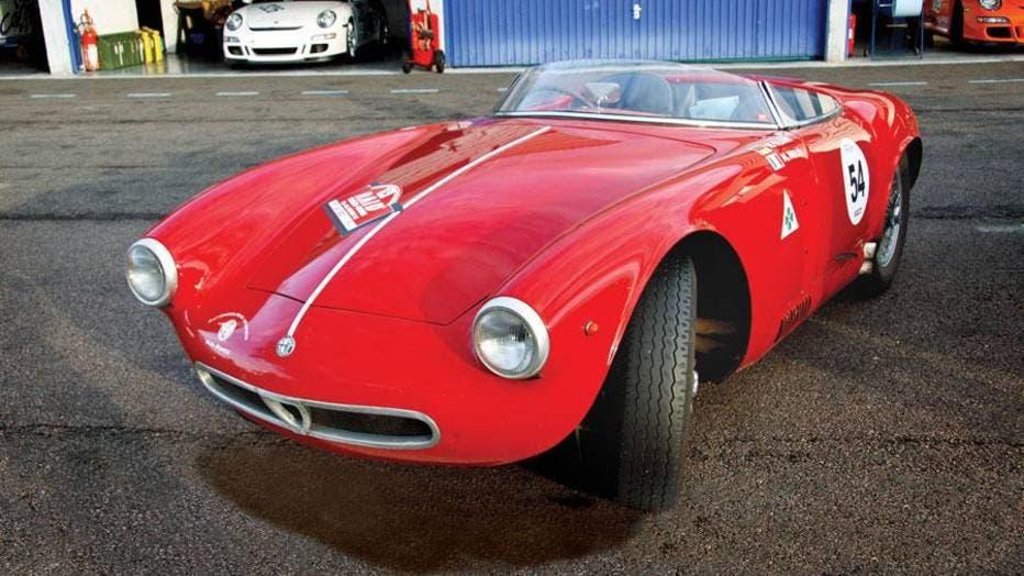 Alfa Romeo 1900 Sport Spider Vernasca Silver Flag 2018