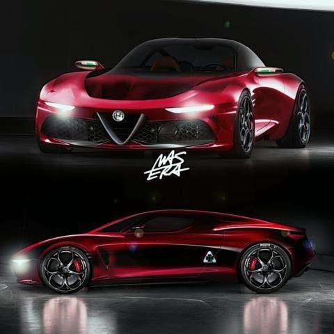 Alfa Romeo 8C Masera secondo render