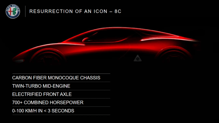 Alfa Romeo 8C ultimi rumor