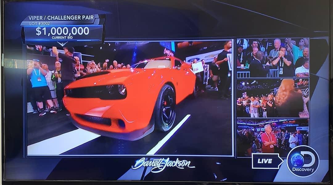 Dodge Challenger SRT Demon e Viper asta Barrett-Jackson