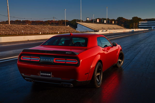Dodge Challenger SRT Demon disclaimer