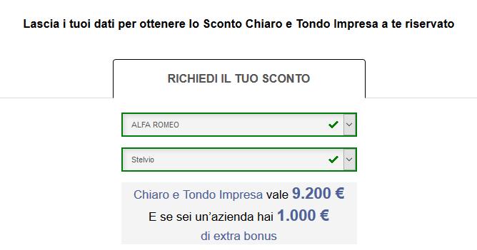 FCA bonus Chiaro e Tondo Impresa luglio