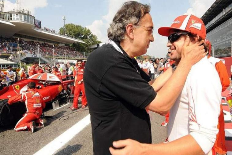 Fernando Alonso saluta Sergio Marchionne