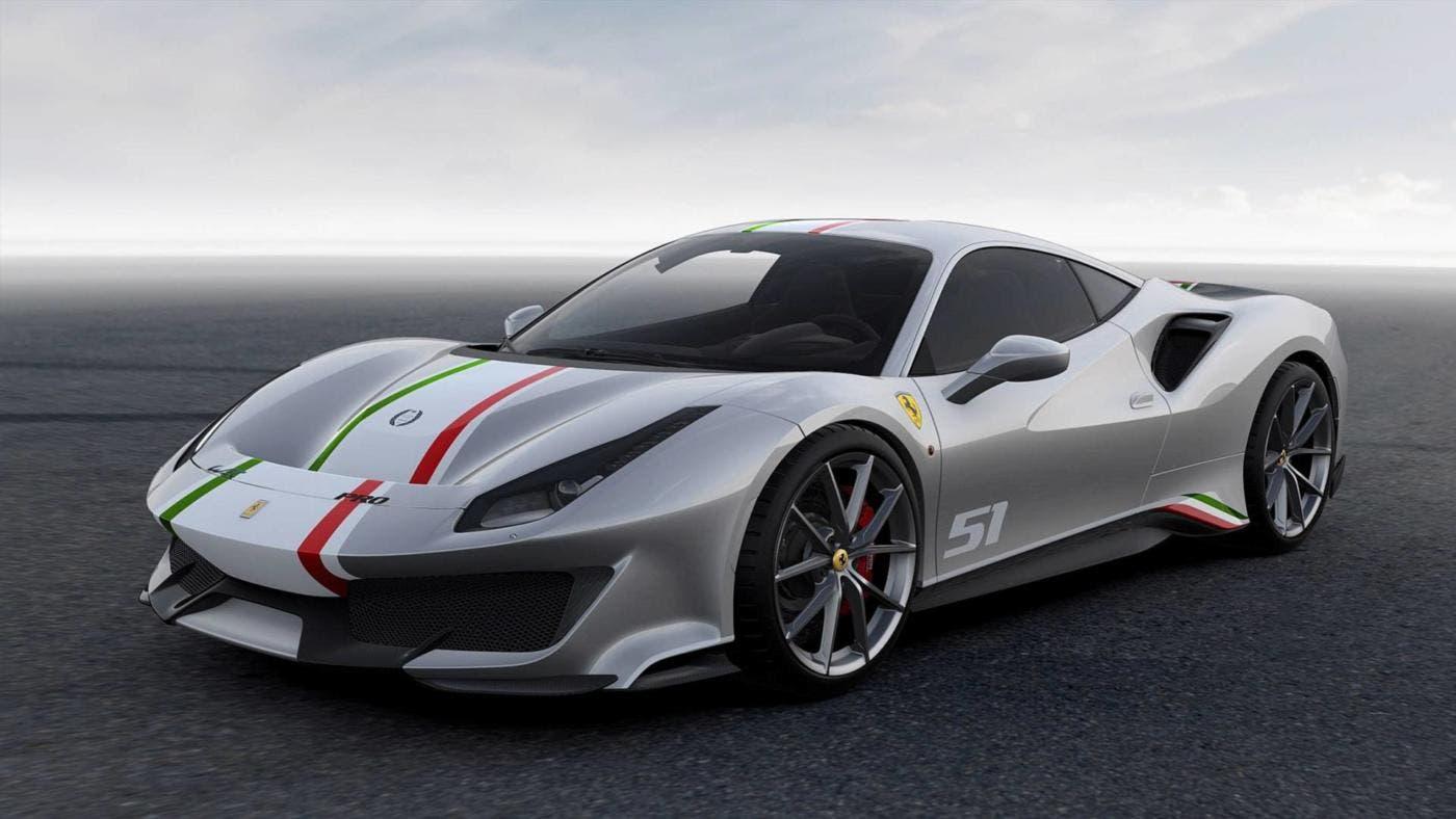 Ferrari 488 Pista Piloti Ferrari 3 colorazioni