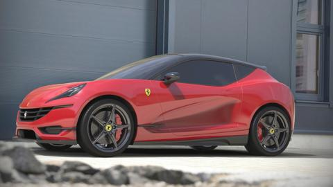 Ferrari berlina due volumi concept render
