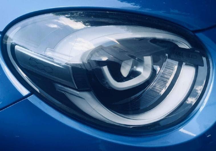 Fiat 500X 2019 foto spia gruppi ottici