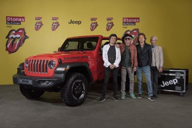 Jeep Wrangler sponsor tour Rolling Stones