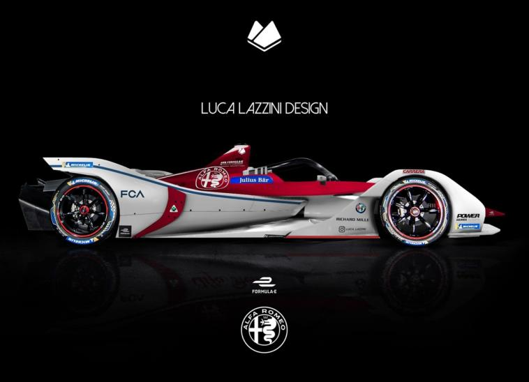 Alfa Romeo monoposto Formula E render