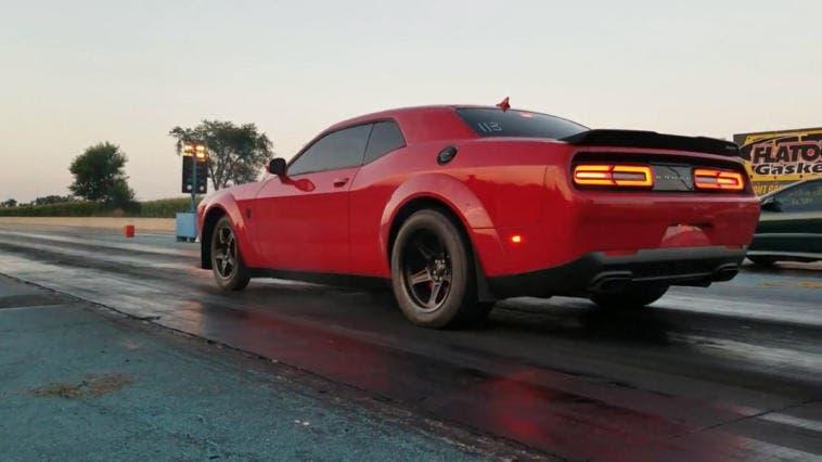 Dodge Challenger SRT Demon drag strip