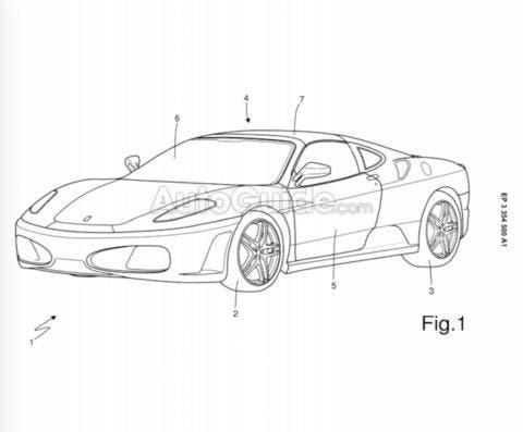 Ferrari brevetto auto carozzeria Targa