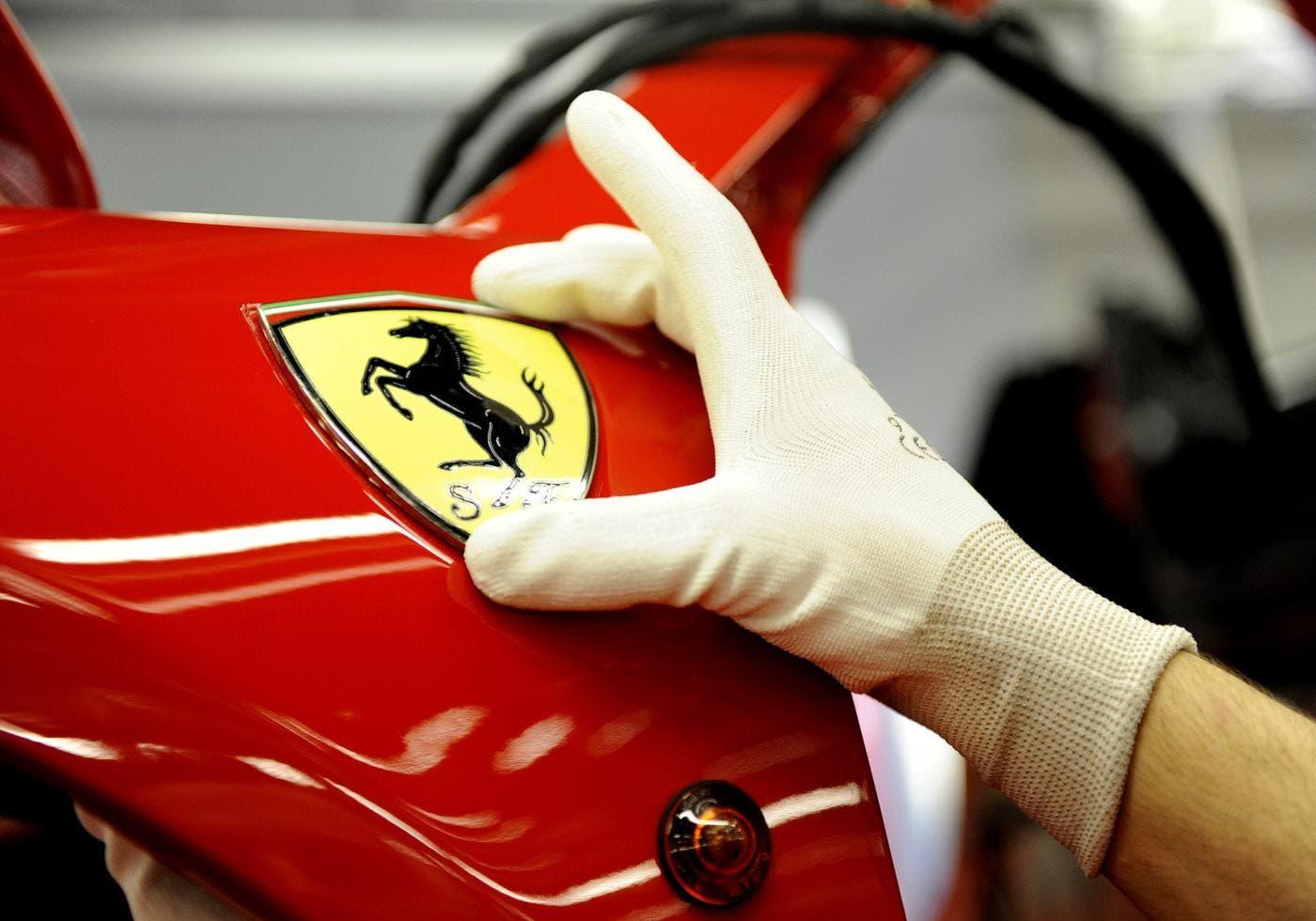 Ferrari processo di verniciatura a bassa temperatura