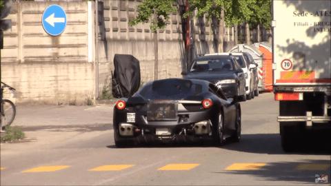 Ferrari prototipo ibrido strada