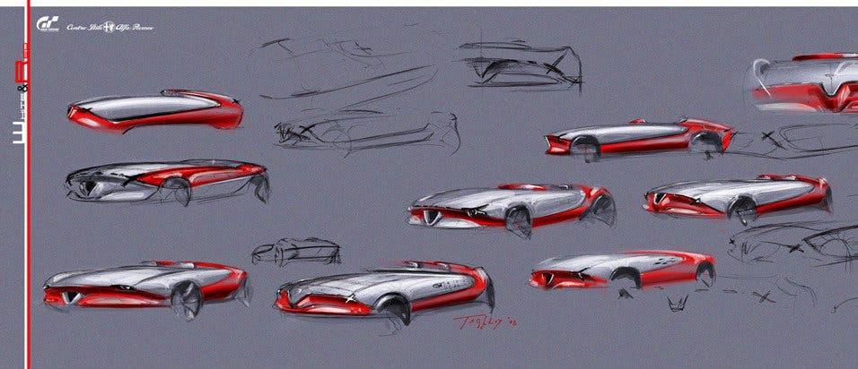 Alfa Romeo 6C Vision Gran Turismo progetto designer italiano