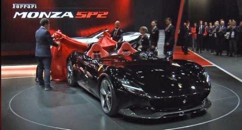 Ferrari Monza SP1 e SP2 Salone di Parigi 2018