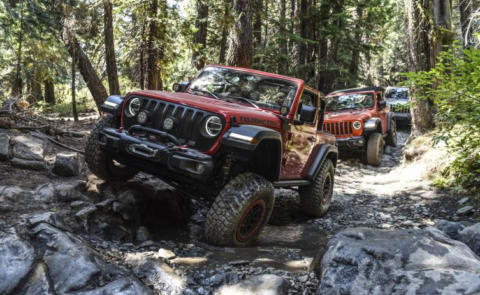 Jeep Wrangler Rubicon tracciato Rubicon Trail