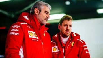Vettel e Arrivabene
