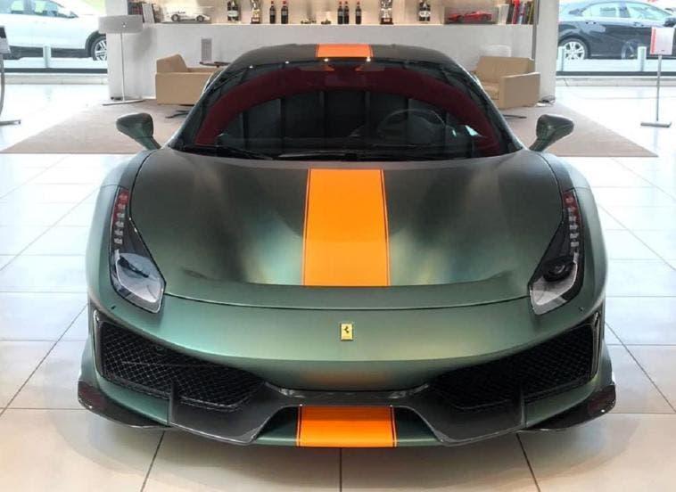 Ferrari 488 Pista verde opaco