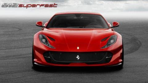 Ferrari 812 Superfast motore biturbo render