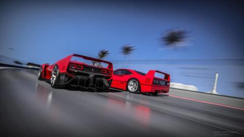 Ferrari F40 render chiave moderna