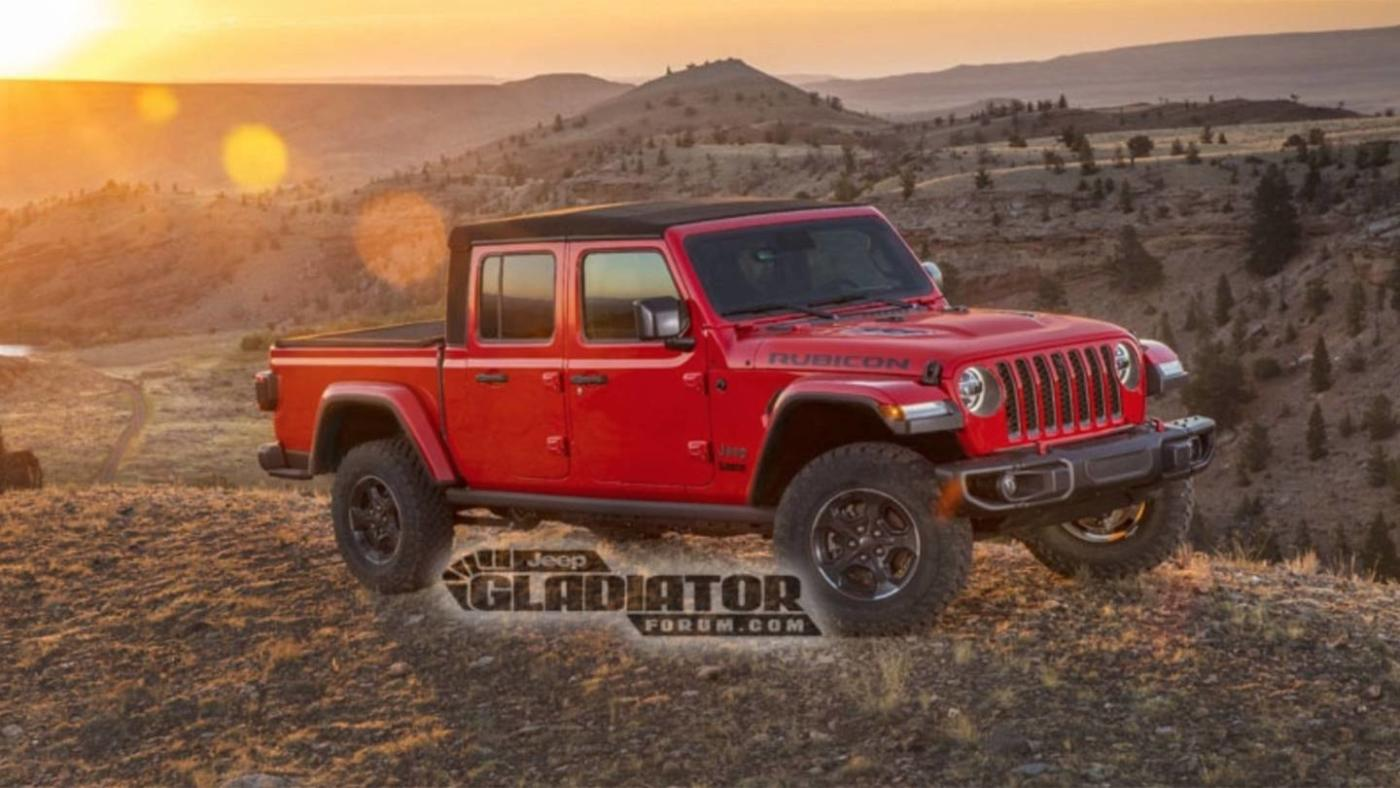 Jeep Gladiator 6×6 render