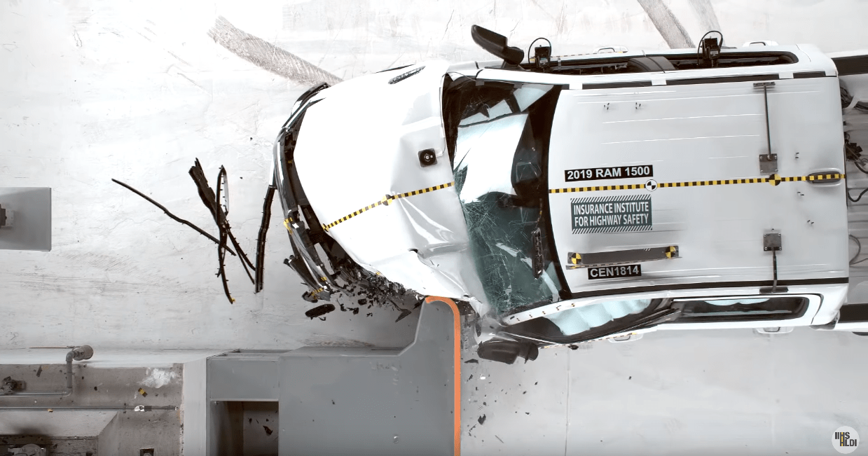 Ram 1500 2019 crash test IIHS