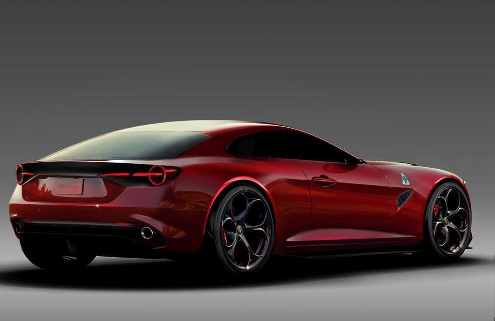 Alfa Romeo 8C 2020 render rosso