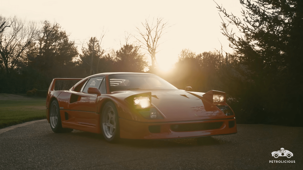 Ferrari F40 Petrolicious video