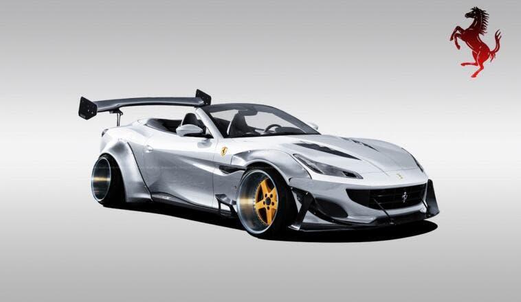 Ferrari Portofino widebody render