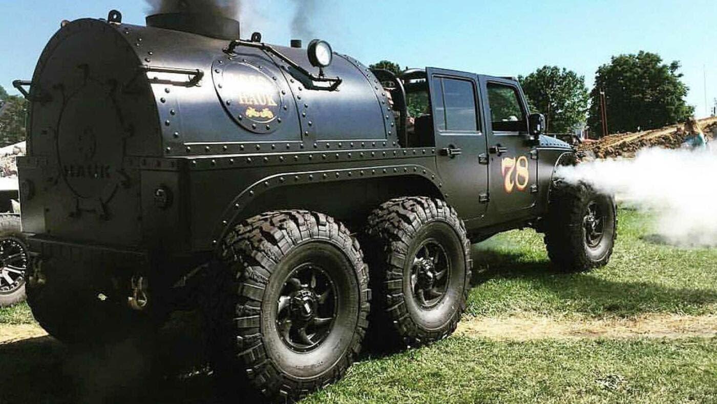 Jeep Wrangler 6x6 motore a vapore