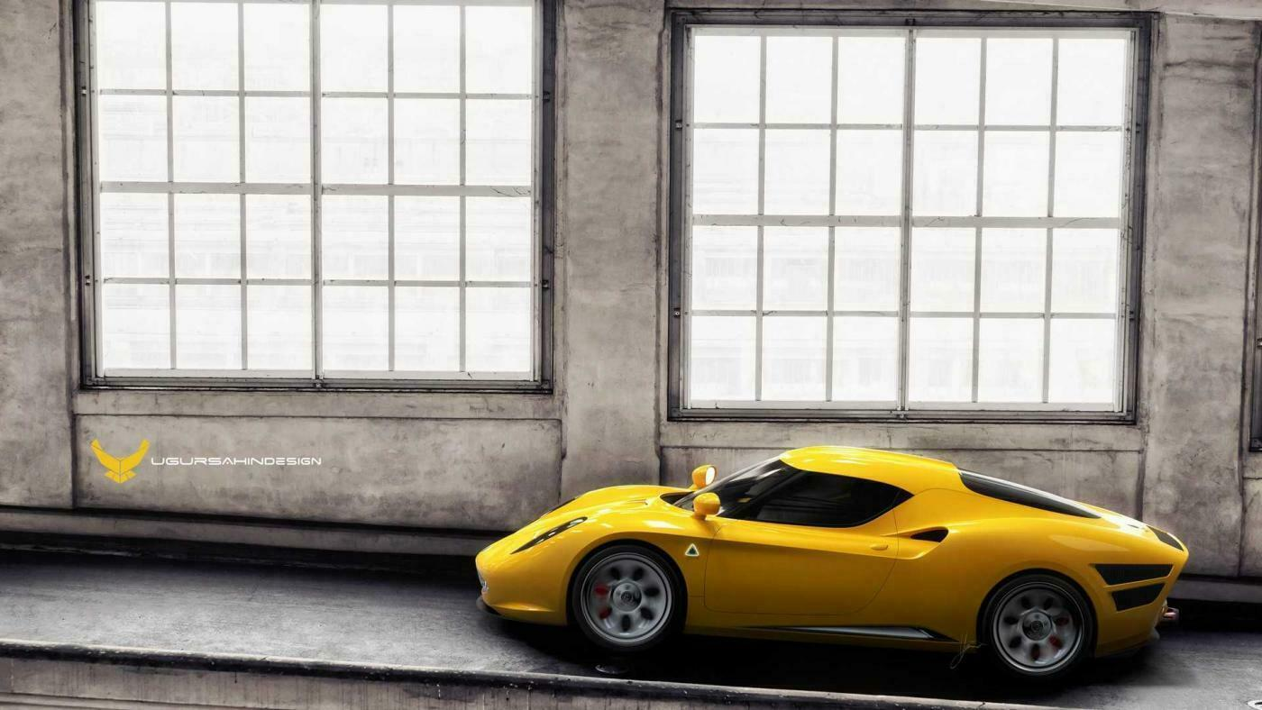 Alfa Romeo 4C retrò render