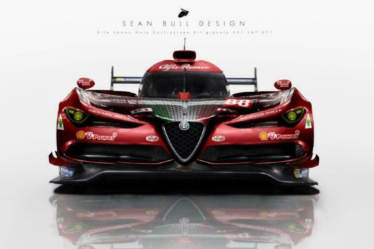 Alfa Romeo LMP1 render super sportiva